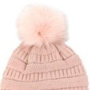 Blush Pom Hat